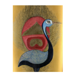 Stork and the Peacock Feather