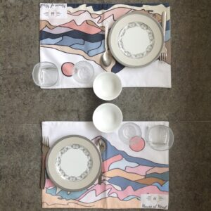 Light Coloured Mountain Patterned Table Mats