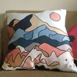 Colourful Mountain Patterned Cushion Cover